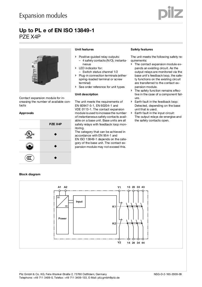 Pilz Pnoz X4 Wiring Diagram 27 Images Gmc T8500 Pze P En Pzex4pen 140623114235 Phpapp01 Thumbnail 4cb1403523768