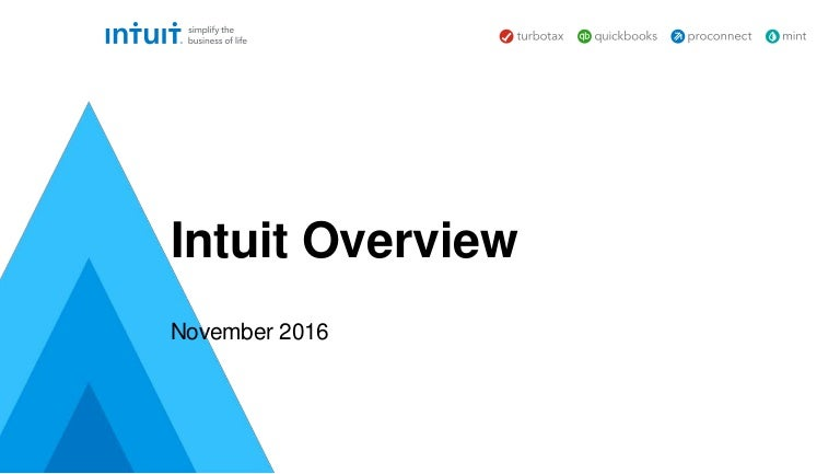 Intuit Investor Presentation November 2016