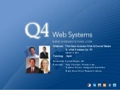 Q4 Web Systems + Follow The New Investor Web & Social Media - March 13, 2012