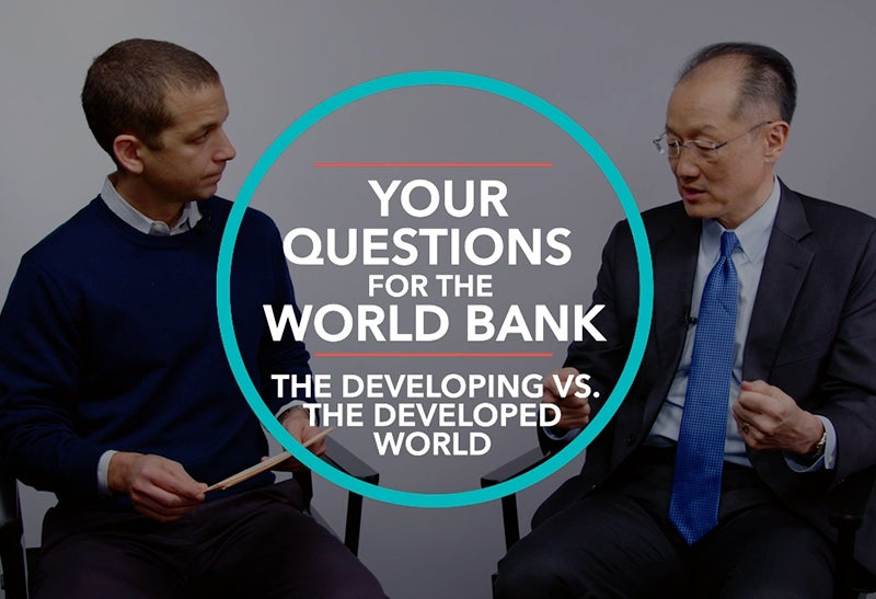 Why is the World Bank Focusing on Poverty in Developing Countries Instead of in the Developed World?