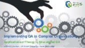 Implementing QA in Complex Organisations: Applications of Theory to Educational QA