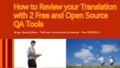 How to Review your Translation with 2 Free and Open Source QA Tools