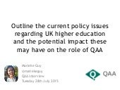 Policy issues in UK Higher Education 2015