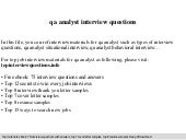 top 10 software qa interview questions with answers - Quality Analyst Interview Questions And Answers