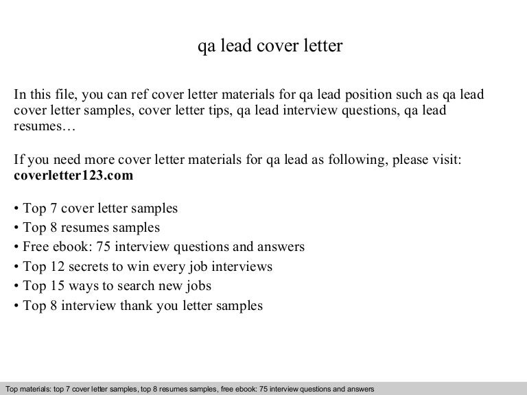 samples for cover letters