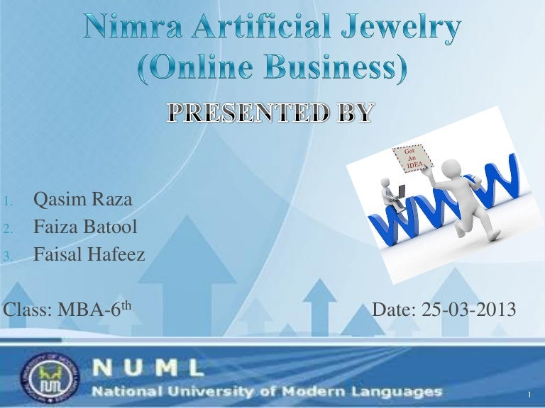 Online Artificial Jewelry Business Idea