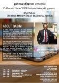 Qasim Majid - Creating Massive Value in A Digital World #epicfailure at Coffee & Natter Birmingham, Jan 16