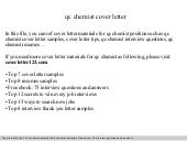 Qc Analyst Cover Letter - Qc chemist cover letter