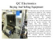 QC Electronics - Buying and Selling Equipment