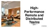High-Performance Remote and Distributed Teams