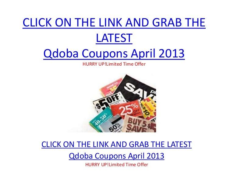 image relating to Qdoba Printable Coupons called Qdoba Discount codes April 2013 Printable Qdoba Discount coupons April 2013