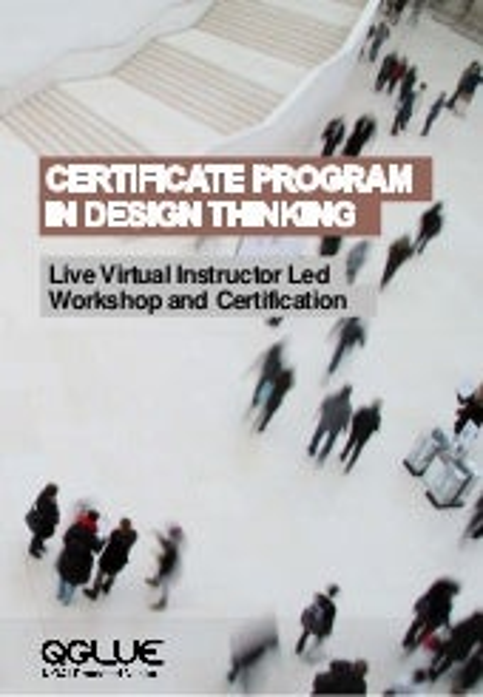 Certificate program in design thinking