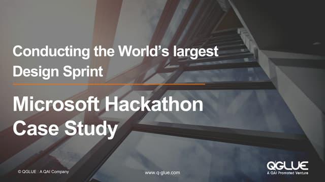 Microsoft hackathon - conducting the world's largest design sprint