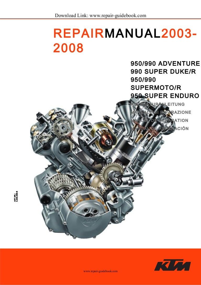 2003 to 2008 ktm 950 990 adventure, 990 super duke / r, supermoto / r…  slideshare
