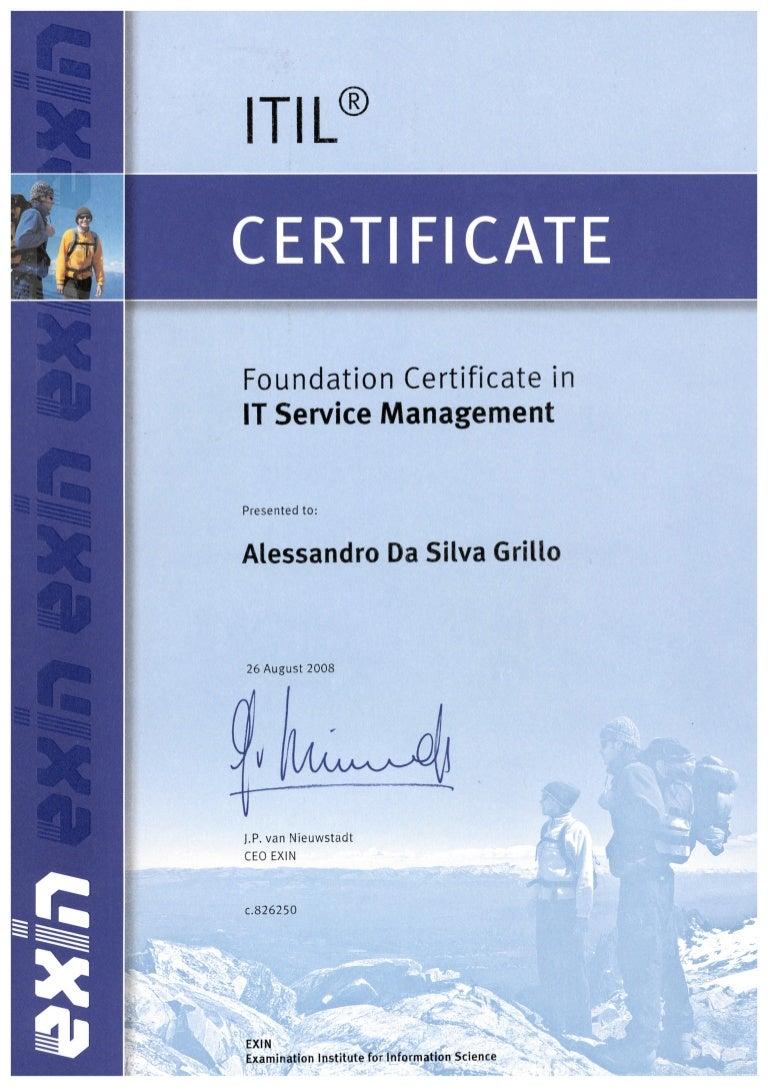 Itil certificate xflitez Choice Image
