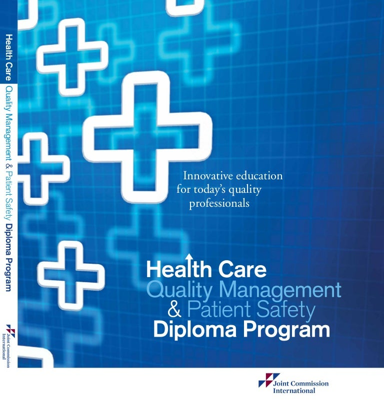 quality management and patient safety diploma by jci