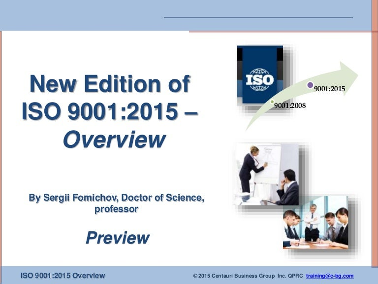 Iso 9001 2015 Overview Presentation For Training Preview