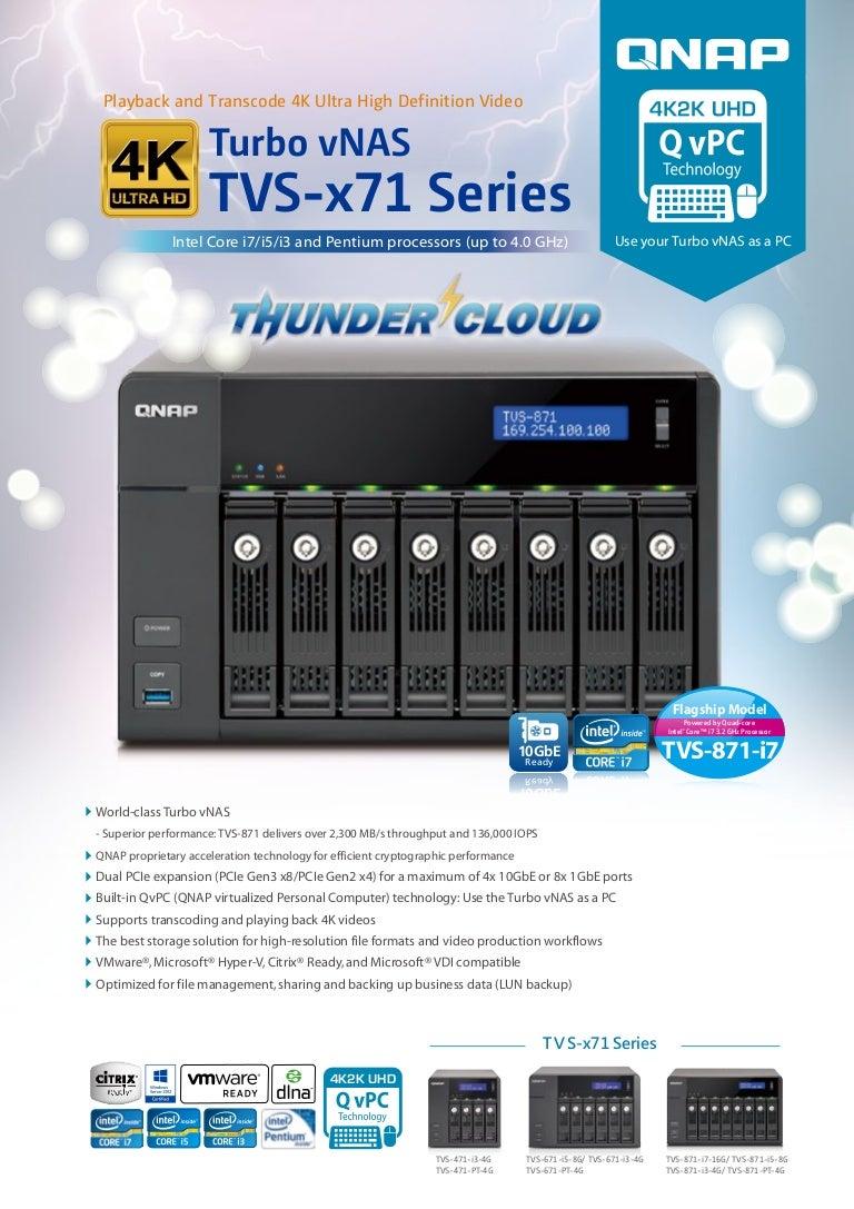 Qnap Nas Tvs Serie X71 Catalogo 471 I3 4g