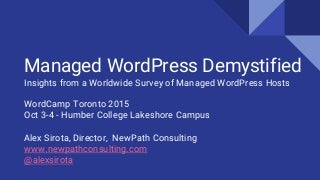 Managed WordPress Demystified