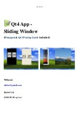 Qt4 App - Sliding Window