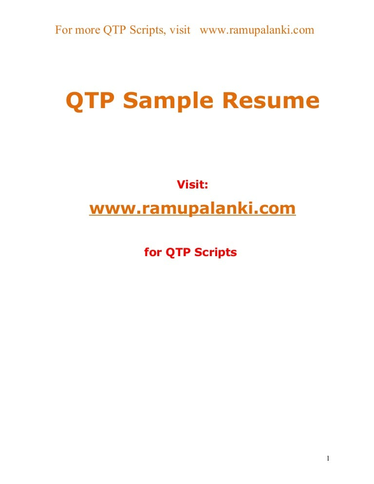 sample software tester resumes