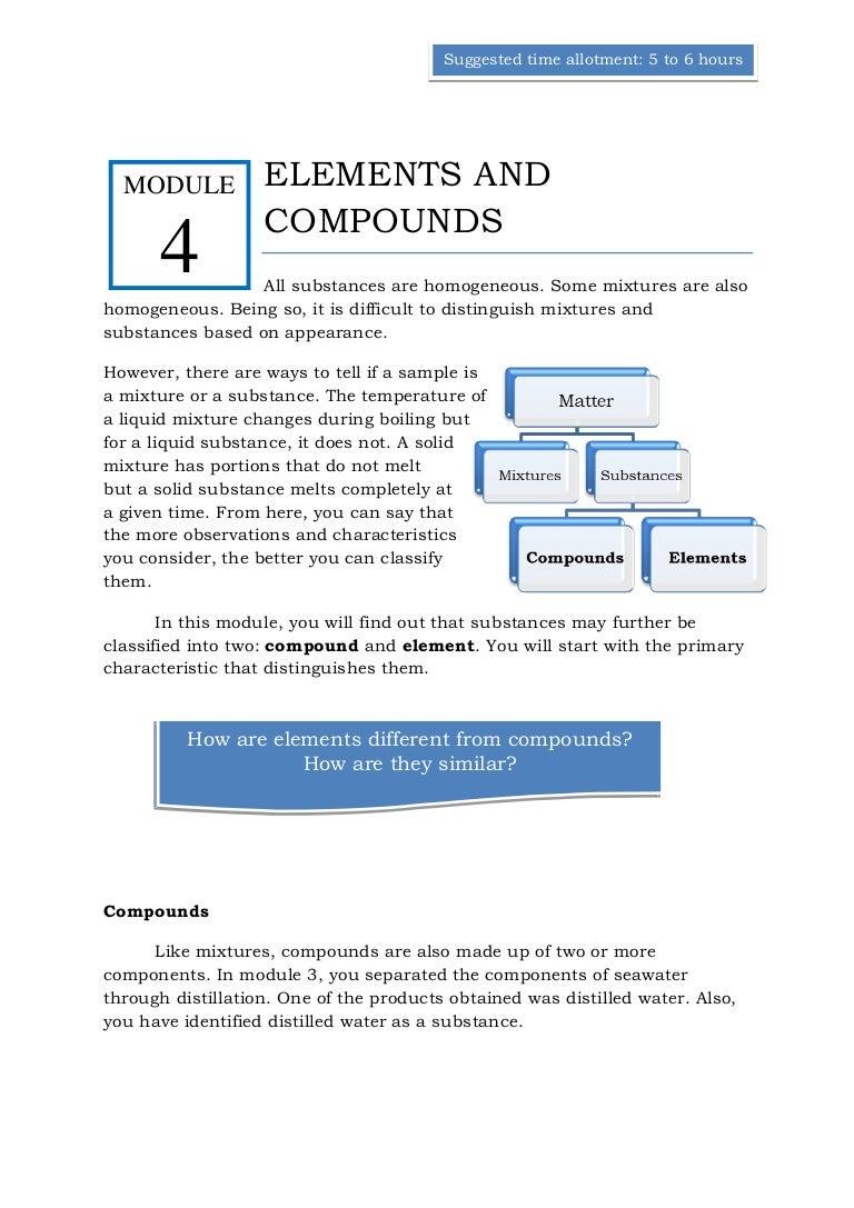Qtr 1 module 4 elements compounds biocorpaavc Image collections