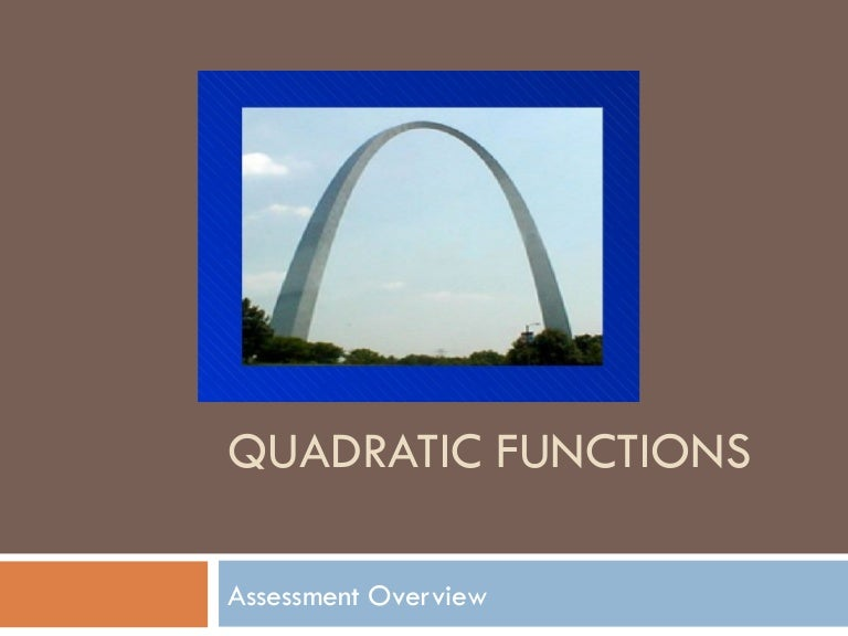 quadratic functions used in real life