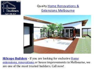 Quaity home renovations & extensions melbourne
