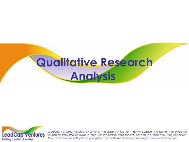 Qualitative Research Analysis Case Studies