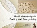 Qualitative analysis coding and categorizing