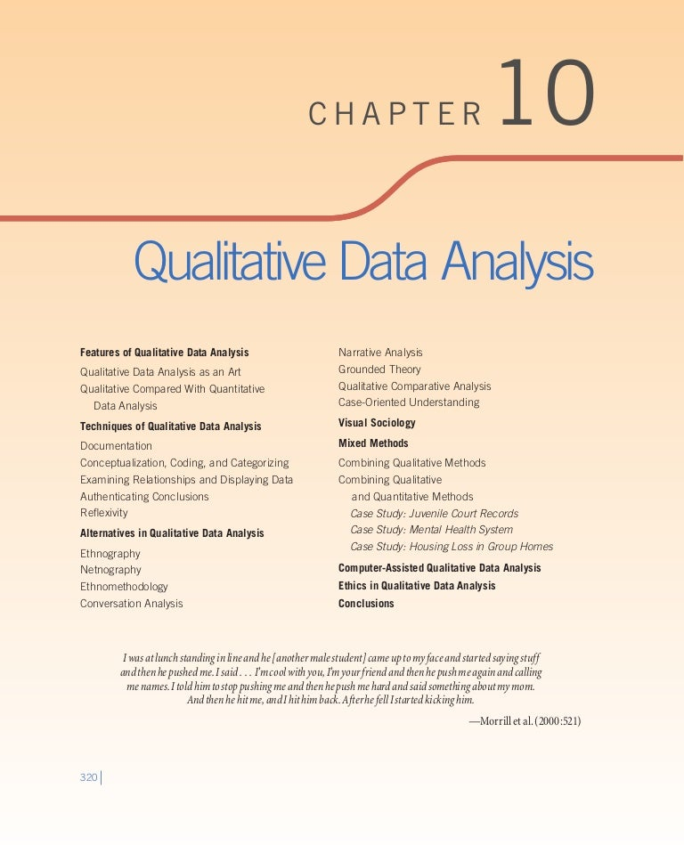 Qualitative data analysis pdf