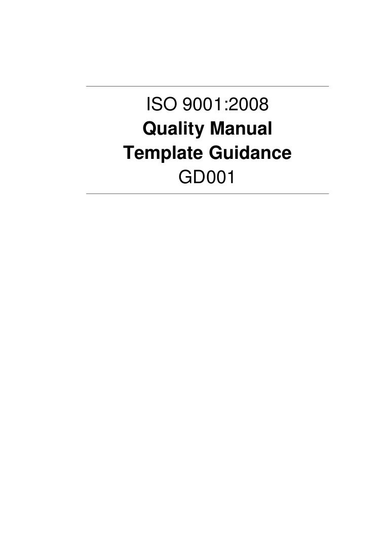 Quality manualtemplateguidanceexample – Quality Manual Template