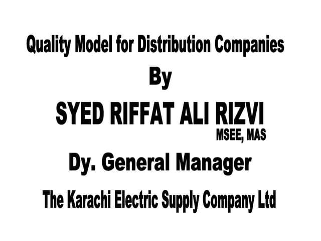 Quality Model By Riffat Ali