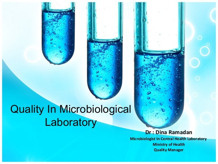 Quality in microbiological lab toneelgroepblik