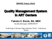 Quality Management System in ART Centers