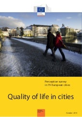Quality of life in cities 2013