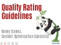 Quality rating guidelines and Google Pigeon