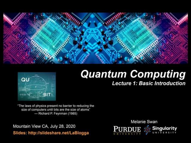 Quantum Computing Lecture 1: Basic Concepts