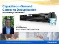 Capacity-on-Demand Comes to Deduplication: Introducing The DXi4601