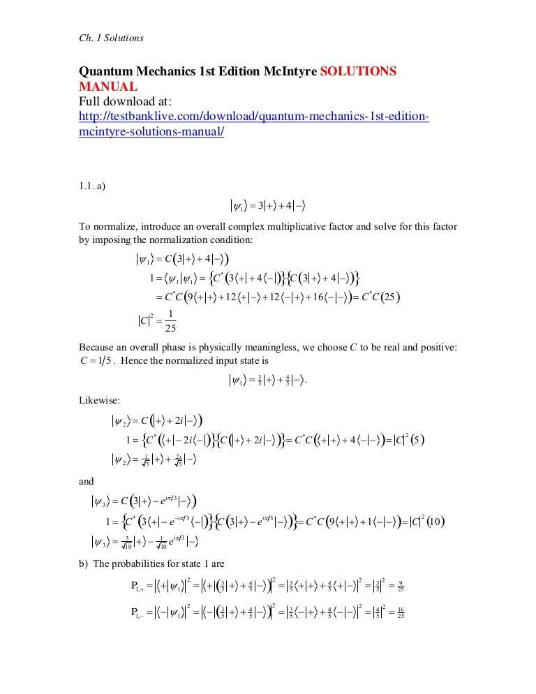quantum mechanics solution manual rh e15 eurasia spb ru introductory quantum mechanics liboff solution manual free download Quantum Physics Symbols