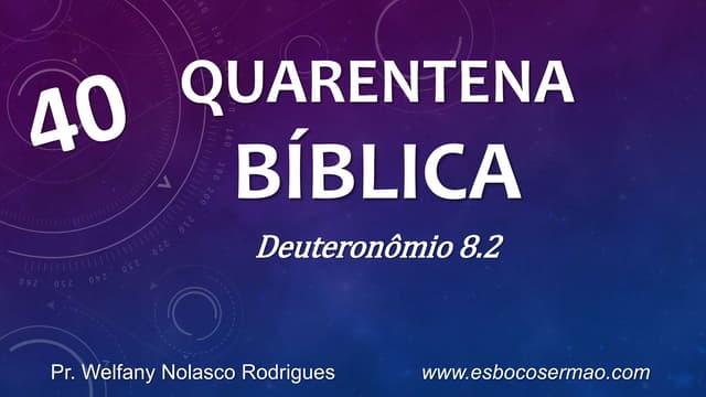 Quarentena biblica