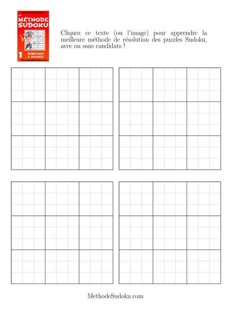 Gratuit Grille De Sudoku Vide à Imprimer Une Grille Sur