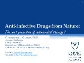 FAU Frontiers in Science Lecture: Anti-infective drugs from nature - 2014