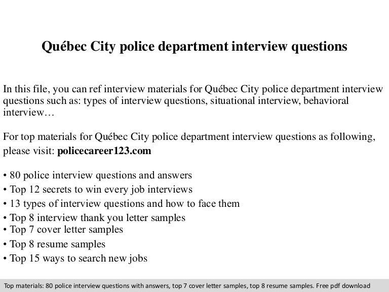 Qubec city police department interview questions spiritdancerdesigns Choice Image