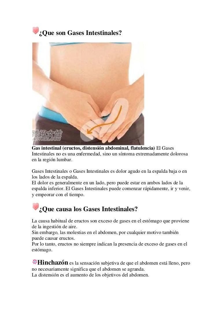 exceso de gases e inflamacion estomacal