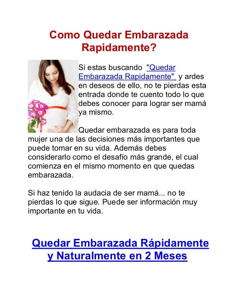 Tips para embarazarse mas rapido