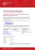 Queen's University Belfast - Diploma 100% scholarships 2012 - 2013