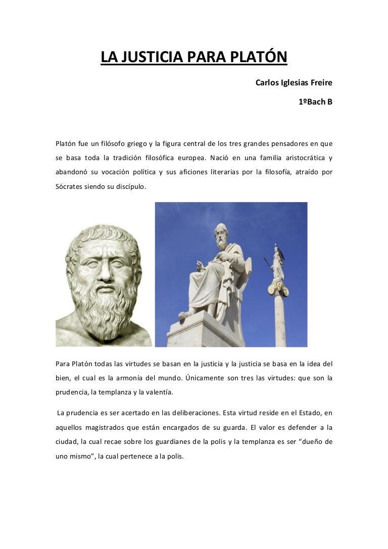 La Justicia para Platón