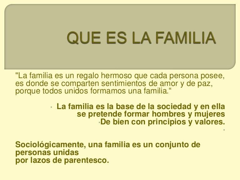 Que es la familia