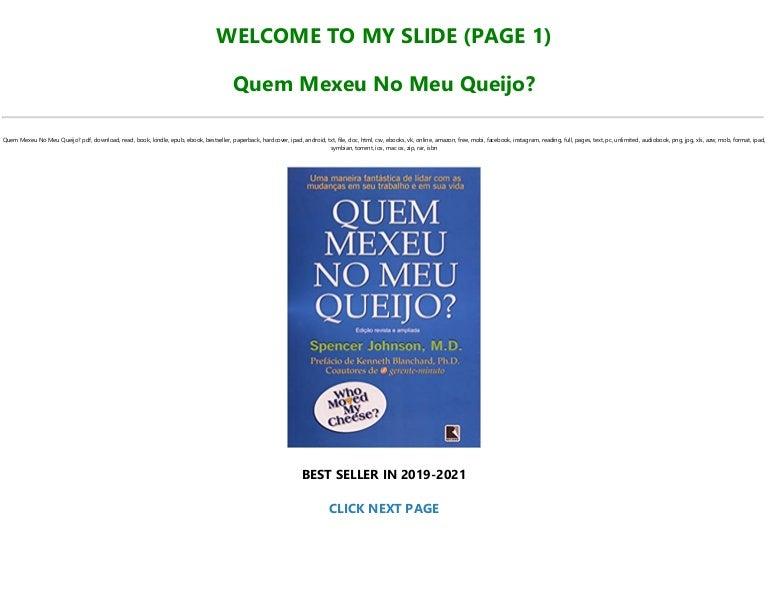 Free [EBOOK] Quem Mexeu No Meu Queijo? *Full Online